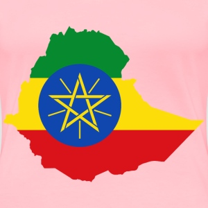 Ethiopia Flag Map - Women's Premium T-Shirt