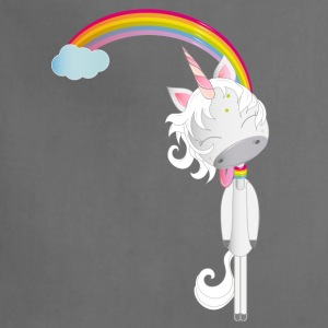 Unicorn hangs on rainbow Aprons - Adjustable Apron