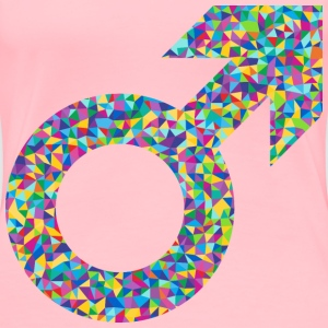 Prismatic Low Poly Male Symbol - Women's Premium T-Shirt