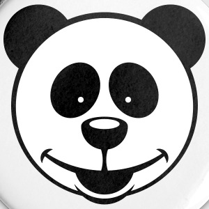 Panda Bear (Smiling / 2C) Buttons - Small Buttons