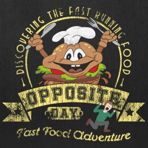Opposite Day Funny Fast Food Adventure Bags & backpacks - Tote Bag