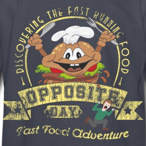 Opposite Day Funny Fast Food Adventure Kids' Shirts - Kids' Long Sleeve T-Shirt