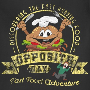 Opposite Day Funny Fast Food Adventure Aprons - Adjustable Apron