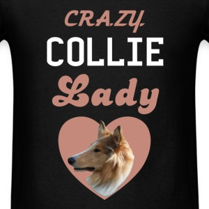 Collie - Crazy Collie Lady - Men's T-Shirt