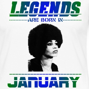 Legends are Born in January Long Sleeve Shirts - Women's Premium Long Sleeve T-Shirt