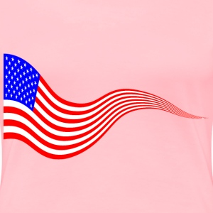 Wavy USA Flag Banner 2 - Women's Premium T-Shirt