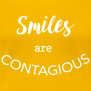 Smiles are contagious T-Shirts - Women's Premium T-Shirt