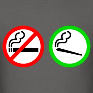 no smoking yes smoking T-Shirts - Men's T-Shirt