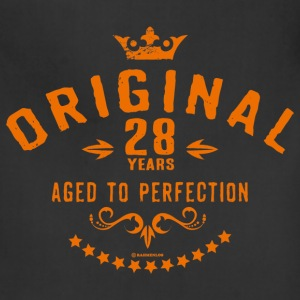 Original 28 years aged to perfection - RAHMENLOS birthday gift Aprons - Adjustable Apron