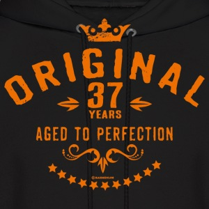 Original 37 years aged to perfection - RAHMENLOS birthday gift Hoodies - Men's Hoodie