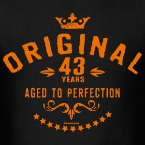 Original 43 years aged to perfection - RAHMENLOS birthday gift T-Shirts - Men's T-Shirt