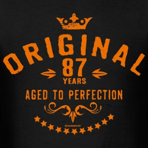 Original 87 years aged to perfection - RAHMENLOS birthday gift T-Shirts - Men's T-Shirt