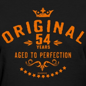 Original 54 years aged to perfection - RAHMENLOS birthday gift T-Shirts - Women's T-Shirt