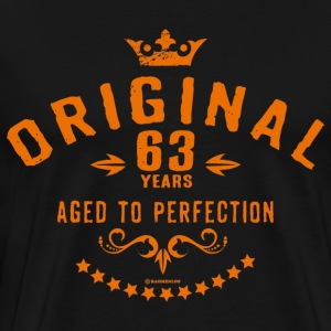 Original 63 years aged to perfection - RAHMENLOS birthday gift T-Shirts - Men's Premium T-Shirt