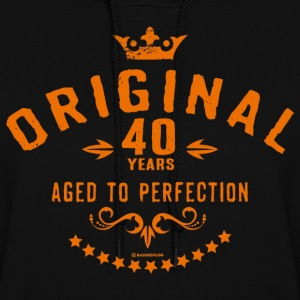 Original 40 years aged to perfection - RAHMENLOS birthday gift Hoodies - Women's Hoodie