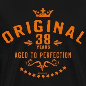 Original 38 years aged to perfection - RAHMENLOS birthday gift T-Shirts - Men's Premium T-Shirt
