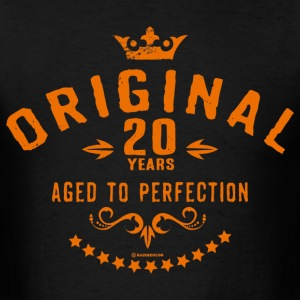 Original 20 years aged to perfection - RAHMENLOS birthday gift T-Shirts - Men's T-Shirt