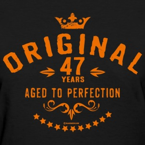 Original 47 years aged to perfection - RAHMENLOS birthday gift T-Shirts - Women's T-Shirt
