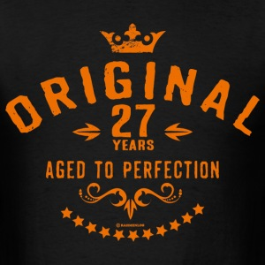 Original 27 years aged to perfection - RAHMENLOS birthday gift T-Shirts - Men's T-Shirt