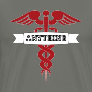 Medical Doctor, Nurse or Caregiver Caduceus Cross  - Men's Premium T-Shirt