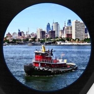 Philadelphia PA - Tugboat by Philadelphia Skyline Caps - Bandana