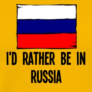 I'd Rather Be In Russia - Men's Premium T-Shirt