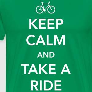 Keep calm and take a ride (bike) T-Shirts - Men's Premium T-Shirt