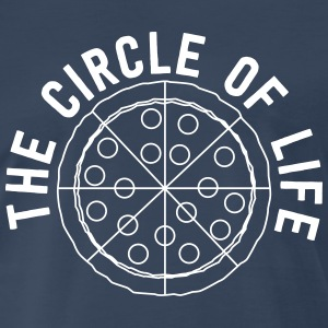 Pizza. The circle of life T-Shirts - Men's Premium T-Shirt