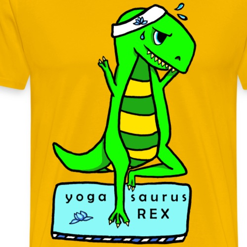 Yogasaurus Rex Boy Man Guy