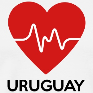 Heart Uruguay - Men's Premium T-Shirt