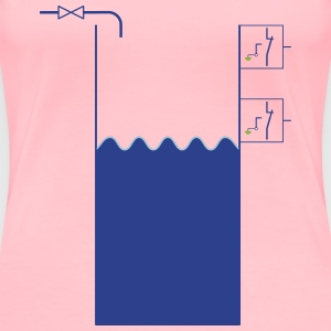 WaterTank with levelswitches and valve - Women's Premium T-Shirt