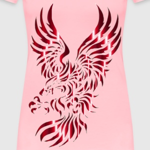 Chromatic Tribal Eagle 2 3 No Background - Women's Premium T-Shirt