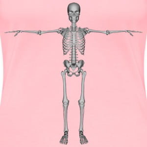 Skeleton With Arms Out - Women's Premium T-Shirt