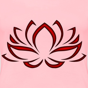 Crimson Lotus Flower - Women's Premium T-Shirt