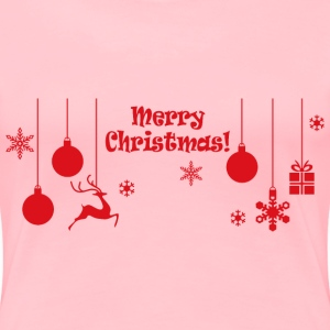 Merry Christmas Ornamental Typography - Women's Premium T-Shirt