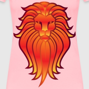 Chromatic Lion Face Tattoo 5 No Background - Women's Premium T-Shirt