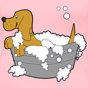 Dog In Washing Tub - Women's Premium T-Shirt