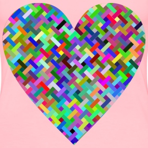 Colorful Heart Lattice Weave - Women's Premium T-Shirt