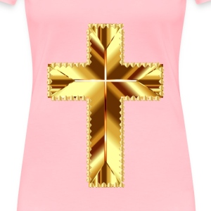 Golden Cross Love Deeper Color No Background - Women's Premium T-Shirt