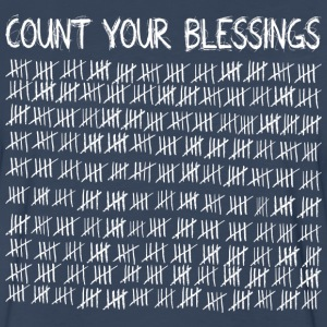 Count Your Blessings (dark) Long Sleeve Shirts - Men's Premium Long Sleeve T-Shirt