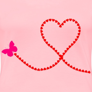 Butterfly Hearts Trail - Women's Premium T-Shirt