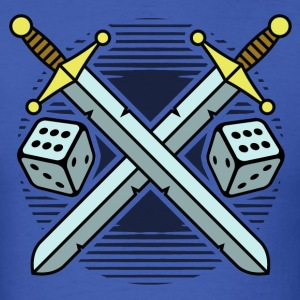 crossed swords and dice T-Shirts - Men's T-Shirt