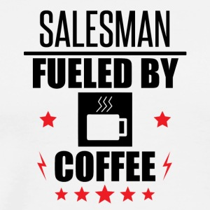 Salesman Fueled By Coffee - Men's Premium T-Shirt