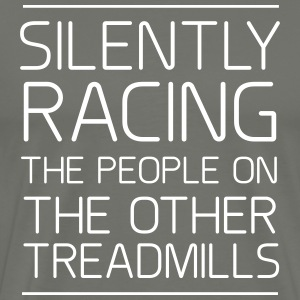 Silently racing people on other treadmills T-Shirts - Men's Premium T-Shirt