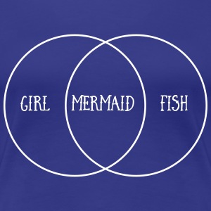 Venn Diagram. Girl. Mermaid. Fish T-Shirts - Women's Premium T-Shirt