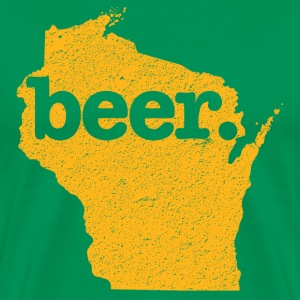 Green Bay Beer Cheesehead T-Shirts - Men's Premium T-Shirt