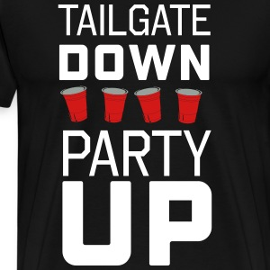 Tailgate Down Party Up T-Shirts - Men's Premium T-Shirt