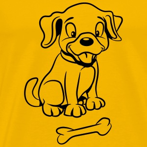 Dog baby funny bone T-Shirts - Men's Premium T-Shirt
