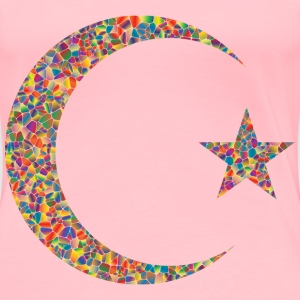 Polyprismatic Tiled Crescent And Star - Women's Premium T-Shirt
