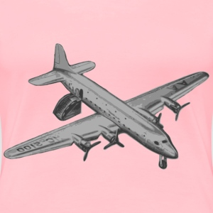 Landed Old Airplane - Women's Premium T-Shirt